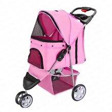 Pet stroller lightweight folding pet dog out of the wagon