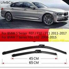 Front Windshield Windscreen Wiper Blades For BMW 5 Series F07 F10 F11 2011 2015 2016 2017  7 Series F01 F02 2008 2009  2015 LHD
