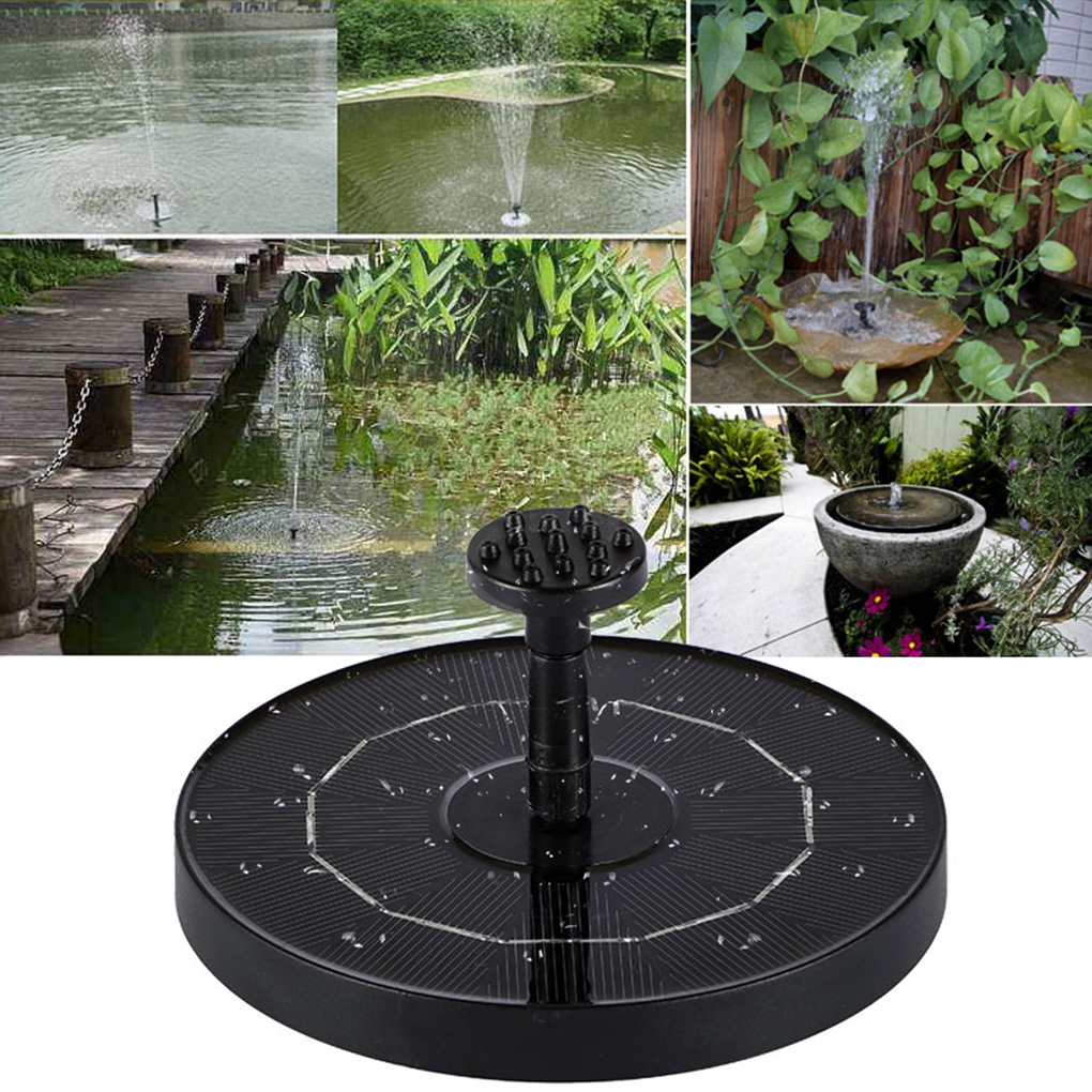 Mini Solar Powered Fountain Garden Pool Pond Solar Panel Floating Fountain Garden Decoration Water Fountain Drop Shipping
