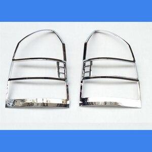 Image 1 - משלוח חינם ABS Chrome אחורי פנס מנורת כיסוי Trim 2 יח\סט עבור 2005 כדי 2012 עבור יונדאי טוסון