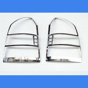 Image 1 - Free Shipping ABS Chrome Rear Headlight Lamp Cover Trim 2Pcs/Set For 2005 to 2012  for Hyundai Tucson