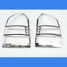 Kostenloser Versand ABS Chrom Hinten Scheinwerfer Lampe Abdeckung Trim 2 Teile/satz Für 2005 zu 2012 für Hyundai Tucson