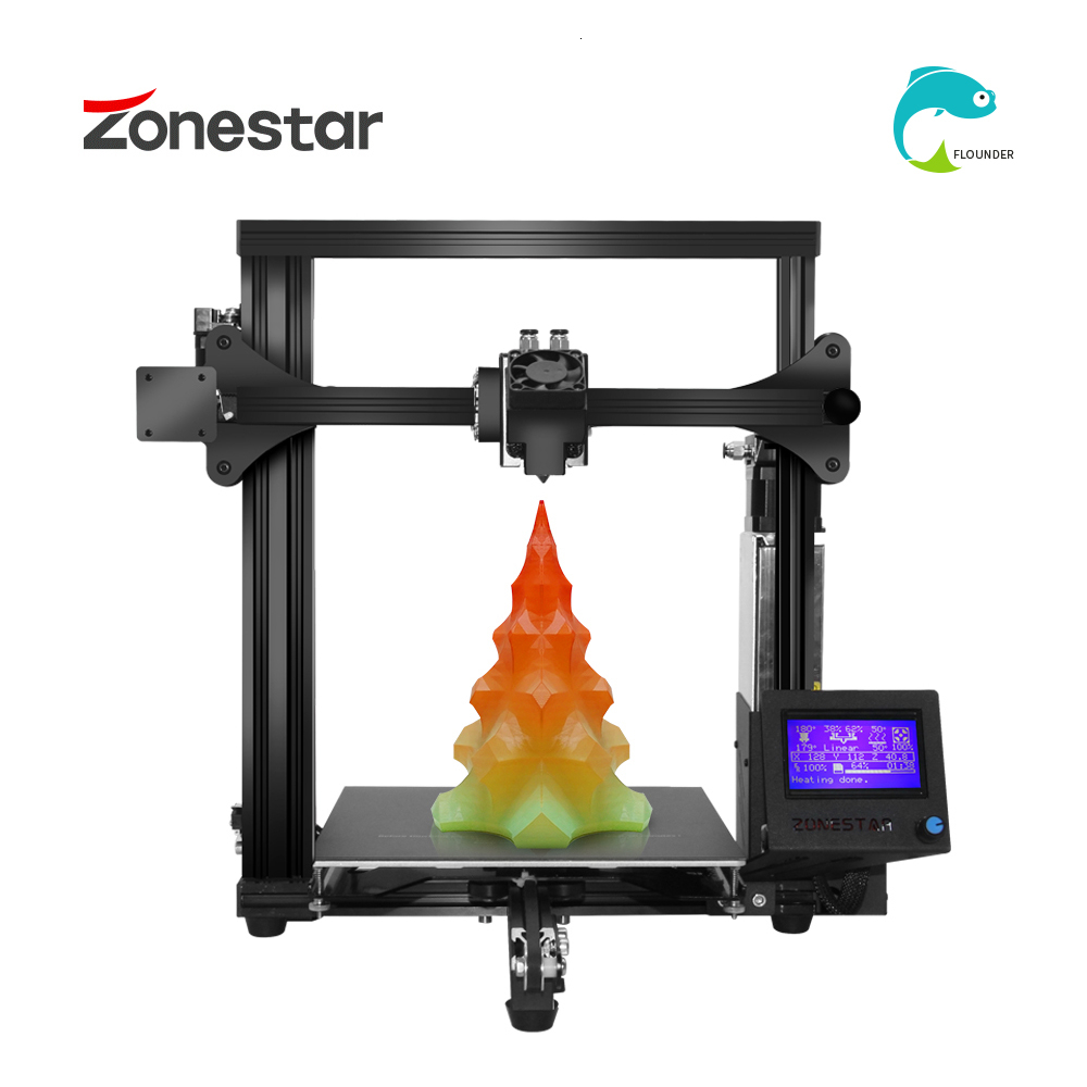 ZONESTAR 3D Printer Classic with Dual Extruder and Auto Mix Color 1