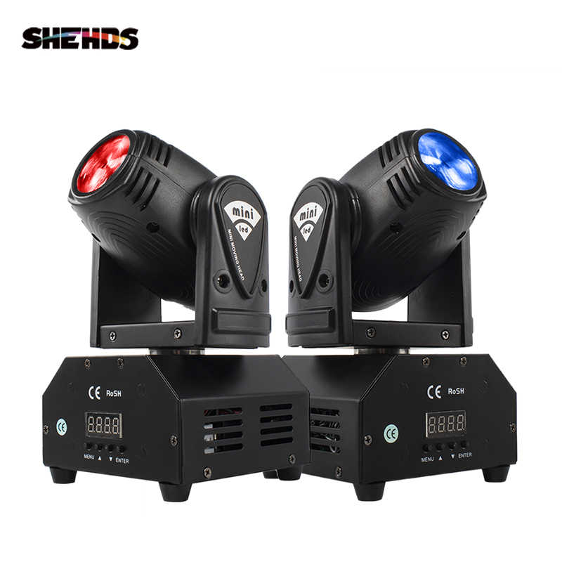 Hot Jual Mini LED 10W Spot Beam Moving Head Light Kecapi DMX512 Lampu Panggung Stroboscope untuk Hiburan Rumah Profesional tahap