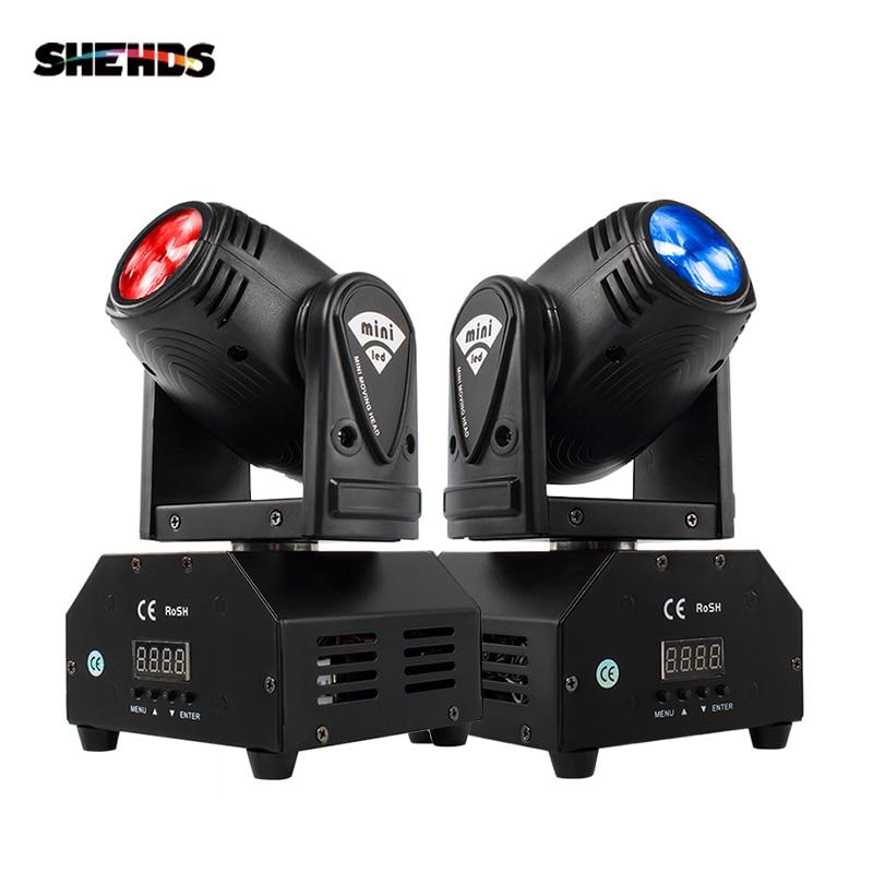 Горячая продажа мини светодиодный 10 Вт точечный луч движущаяся головка светильник Lyre DMX512 сценический светильник стробоскоп для домашнего ...