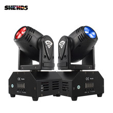 Hot Jual Mini LED 10W Spot Beam Moving Head Light Kecapi DMX512 Lampu Panggung Stroboscope untuk Hiburan Rumah Profesional tahap(China)