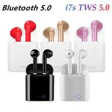 Słuchawki bezprzewodowe douszne Bluetooth TWS i7s z zestawem głośnomówiącym, sport, do uszu, muzyka, do wszystkich smartfonów