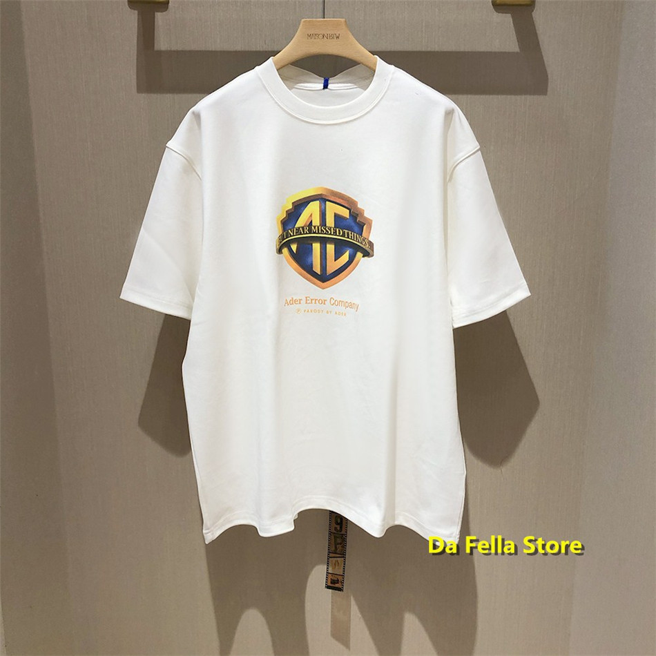 Ader Error Company T-shirt ADER PARODY Logo T-shirts 2020 Men Women Summer Oversize Cotton Adererror Tee Casual Streetwear Tops