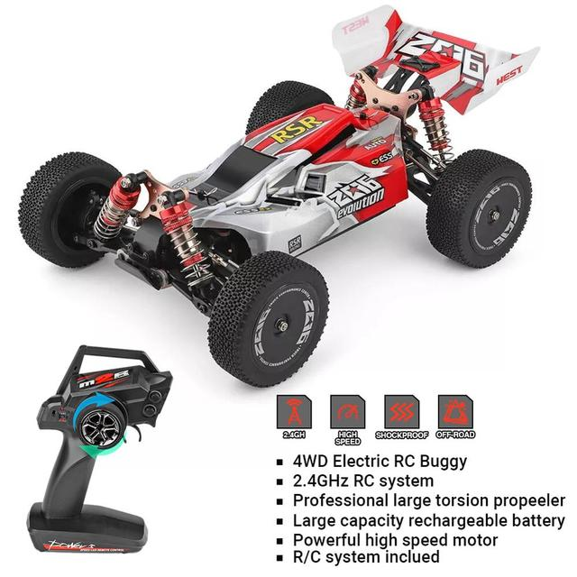 WLtoys 1/14 144001 RTR 2.4GHz RC Car Scale Drift Racing Car 4WD Metal Chassis Hydraulic Shock Absober Off-Road Vehicle Toy 4