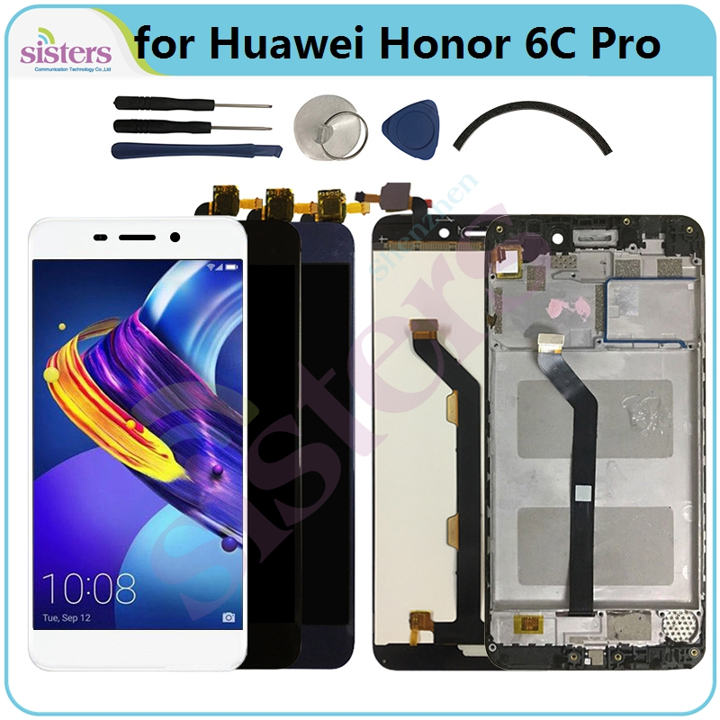 For <font><b>Huawei</b></font> <font><b>Honor</b></font> <font><b>6C</b></font> <font><b>Pro</b></font> <font><b>LCD</b></font> Display JMM-L22 JMM-AL10 AL00 TL00 <font><b>LCD</b></font> Screen 6CPro <font><b>LCD</b></font> Display With Frame <font><b>Touch</b></font> Screen Digitizer image