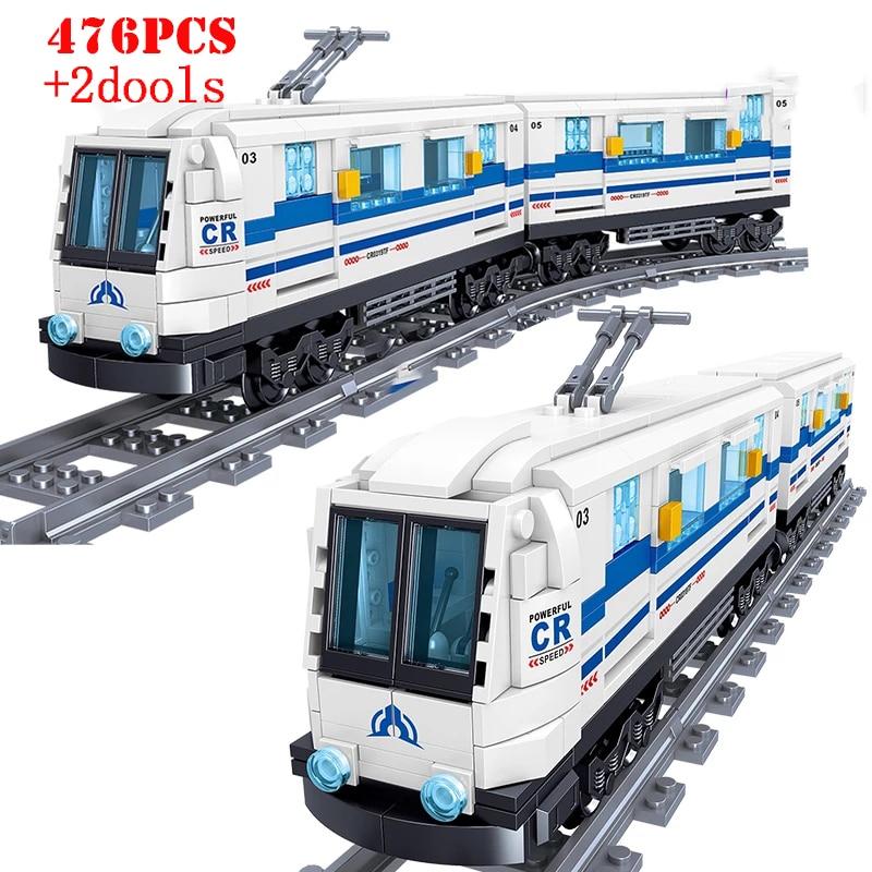 City Series Urban High-speed Rail Train Building Blocks Traffic Vehicle Technical Bricks Educational Toys Gifts For Children Kid 1