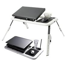 YUNAI Многофункциональный складной стол для ноутбука Подставка для ноутбука с 2 USB охлаждающими вентиляторами коврик для мыши стол для ноутбука для кровати