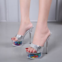 Босоножки на высоком каблуке 14 см; женские пикантные босоножки;