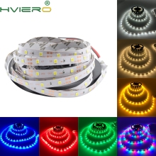 5m 2835 3528 LED Strip Desk Lamp RGB White IP20 DC 12V 2A Power 300Leds IR Remote Controller Holiday Light Night Garden Light