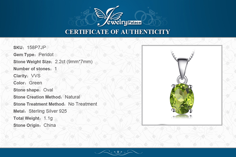 H2db6256806e640afb4613c89b214c8e2o Natural Peridot Pendant Necklace 925 Sterling Silver Gemstones Choker Statement Necklace Women silver 925 Jewelry Without Chain