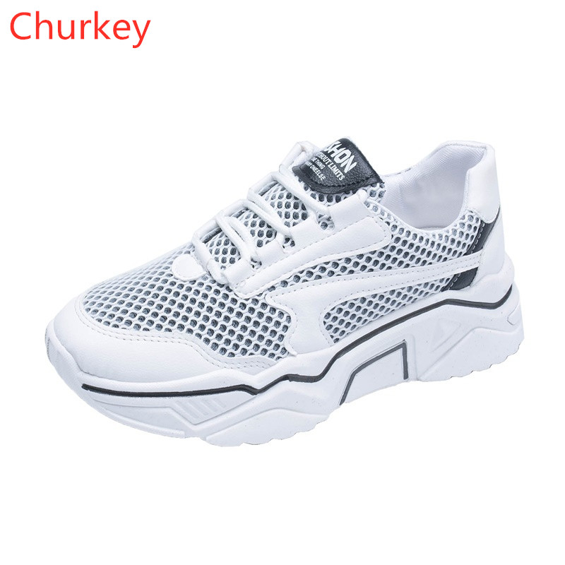 Woman Shoes Sneakers New 2018 White Women Mesh Spring/Autumn Casual  Vulcanized
