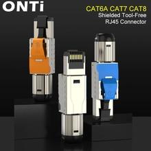 Onti Cat6A Cat7 Cat8 Công Nghiệp Cổng Kết Nối RJ45 Che Chắn Trường Cắm Dụng Cụ Giá Rẻ Dễ Dàng Kim Loại Đúc Chấm Dứt Conector