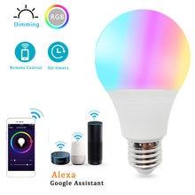 Bezprzewodowa Tuya Wifi inteligentna żarówka LED lampa oświetleniowa domu 10W E27 magia RGB + W LED zmiana koloru żarówka ściemniania IOS /Alexa/Google