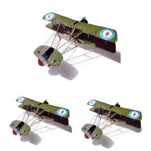 Model Biplane Fighter-Paper Educational-Toys Airco British Z3X3 1:33 Single-Seater Handmade