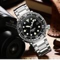 NH35 механические наручные часы 300 м часы для дайвинга механический стальной чехол из нержавеющей стали сапфировое стекло автоматические час...