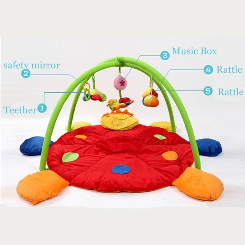 Nouveauté bébé enfants jouer tapis avec hochet musique jouets bébé ramper tapis activité tapis jouets pour enfants Gym couverture doux berceau