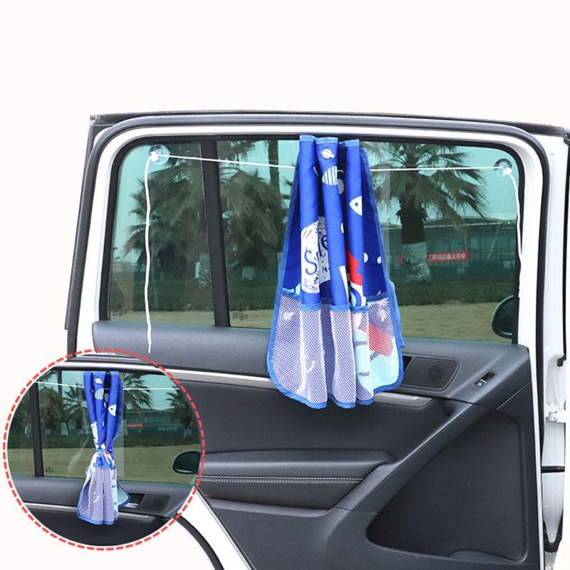Car Sun Visors Children Cartoon Printing Sunscreen Curtain Windshield Storage Bag C5AF