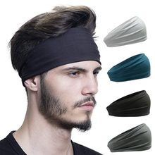Повязка на голову для мужчин и женщин, впитывающая спортивная повязка на голову, для занятий велоспортом, йогой