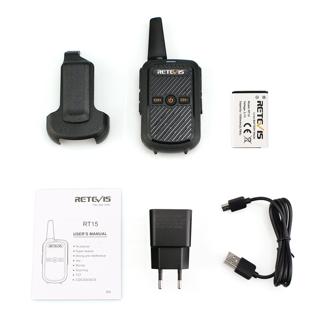 Mini Walkie Talkie Retevis RT15 Portable Two way Radio Portable Radio Communicator Walkie-Talkies 1 or 2 pcs for hotel Hunting 6