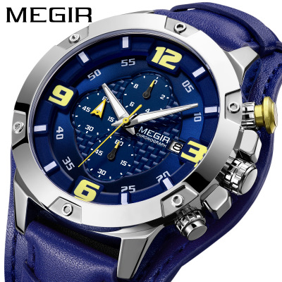 New Fashion Men Military sport Quartz Watches Mens Brand Luxury Leather Strap Waterproof Male Clock Wristwatch