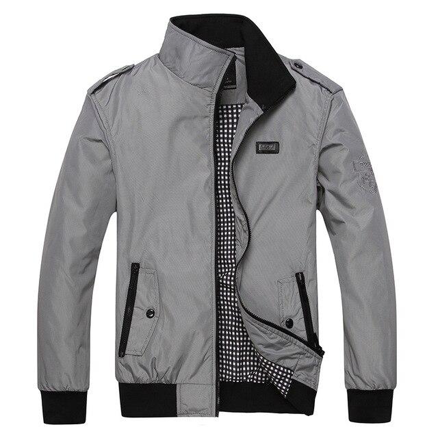 Mwxsd Casual Men's Casual Slim Fit Jacket Spring Men Bomber Jacket Overcoats Jaqueta Masculina