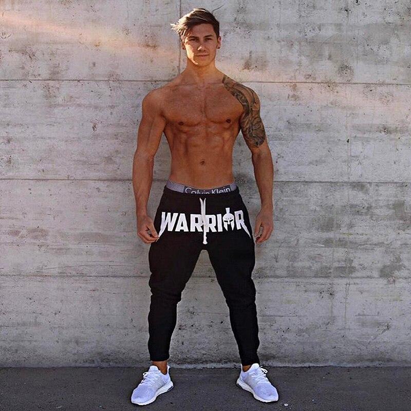 Весенне-осенние мужские модные уличные штаны для фитнеса, тренировочные штаны для бега и бега, повседневные хлопковые брюки