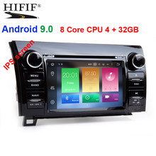 "DSP 7"" 8 Core 4GRAM+32G Flash Android 9.0 Car DVD Player for 2008-2014 TOYOTA Sequoia with Radio GPS Navigation Bluetooth Music(China)"
