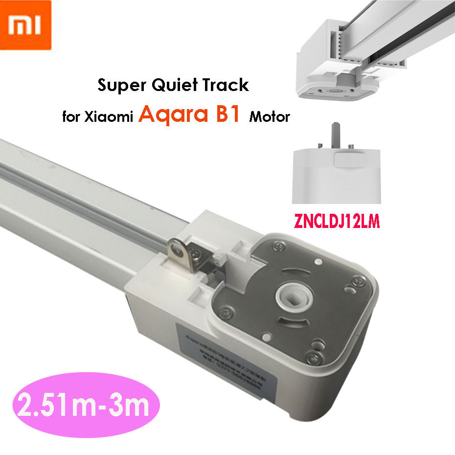 2.51-3M Xiaomi Super Silent Electric Curtain Track For Mijia Aqara B1 Motor,Automatic Curtain Rail,Ceiling Install,Double Open