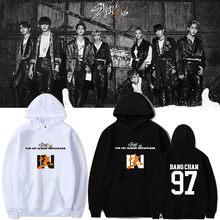 1 pçs stray crianças velo plush hoodies novo álbum em roupas ao vivo felix bnag chan lee saber para presentes de inverno
