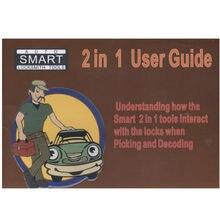 Guía de usuario para lishi 2 en 1, herramienta para libros, Manual de usuario para bloqueo de coche, también con Manual en PDF