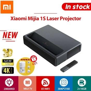 Xiaomi 1S Projector 4K TV Full HD 3D Android Laser Projectors Wireless Phone HDR 2GB 16GB 2000ANSI BT WiFi 150 inch ALPD HDMI