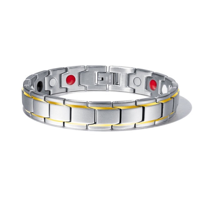 Abrray Magnetic Hematite Copper Bracelet Men's Health Bracelets with Hook Buckle Clasp  1