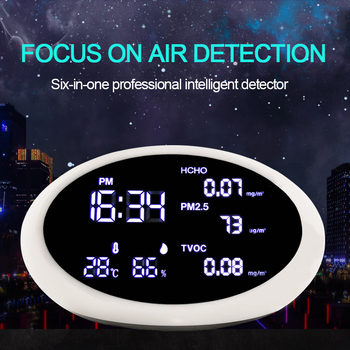 PM2.5 & HCHO TVOC Gas Analyzers  Multi-function Household Air Quality Detector Temperature humidity meter Diagnostic tool