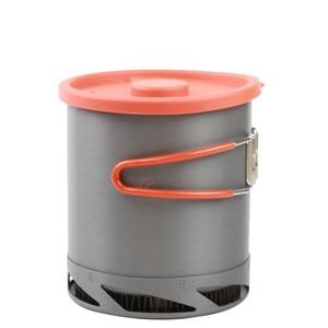 Image 4 - 屋外ポータブル熱収集交換器ポットアルマイトキャンプピクニックポット調理器具カップ調理ハイキング 1L