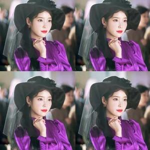 Image 4 - סגול שמלת לנשים דל לונה מלון אותו IU לי ג י אאון בסתיו אישה טמפרמנט שמלת האביב