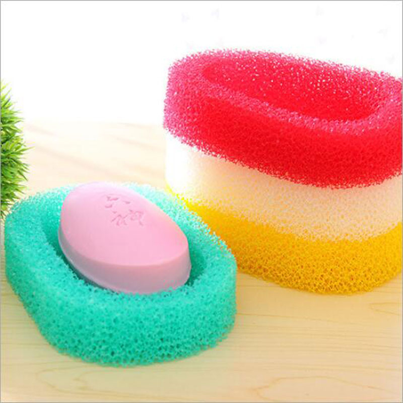 Multi-function Soap Holder Dish Shower Soap Blister Bubble Mesh Body Cleansing Nets Washing Tool Bathroom Kitchen Accessories
