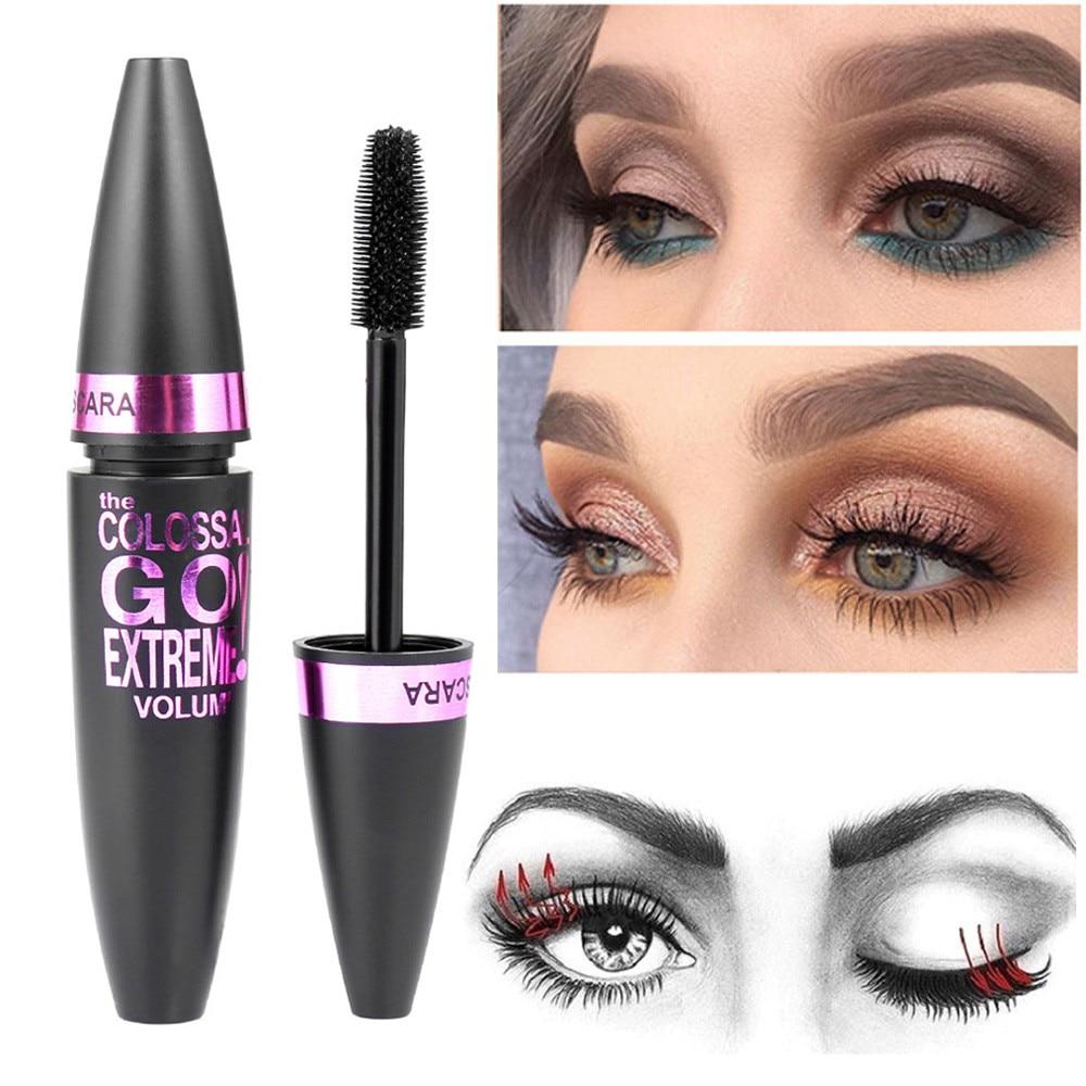 Makeup Mascara Professional Lengthening Lashes Volume Curled Black Curling False Eyelashes Waterproof Eye Cosmetics