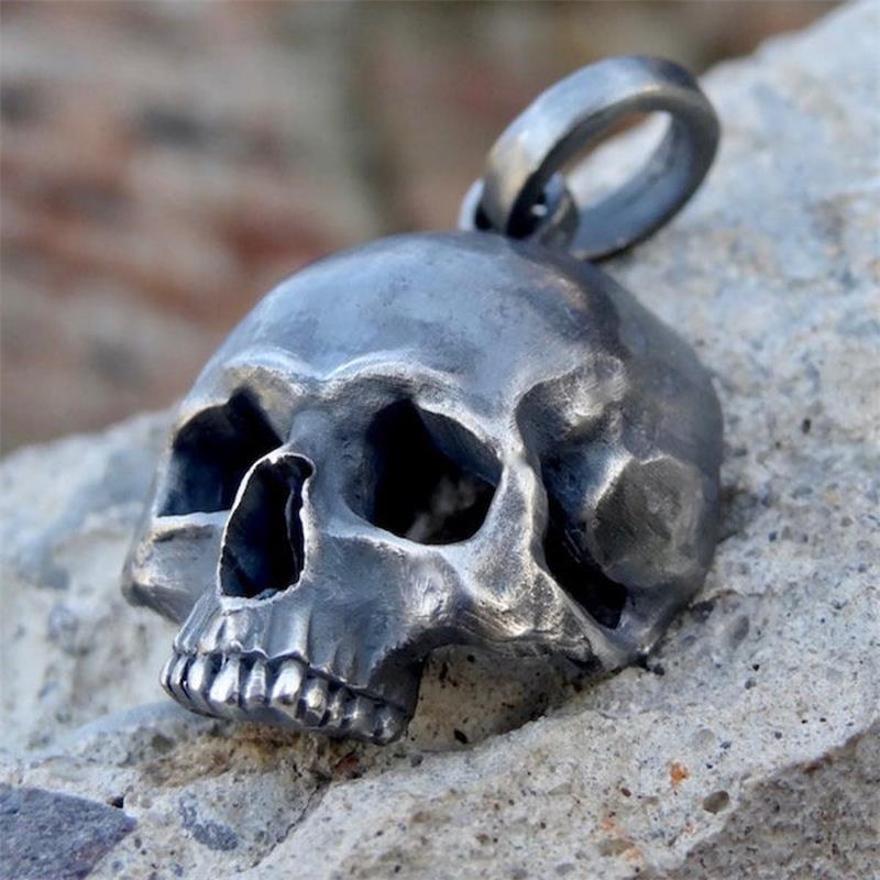 EYHIMD Unique Black Skull Pendant Necklace 316L Stainless Steel Pendant Mens Punk Biker Jewelry Gifts