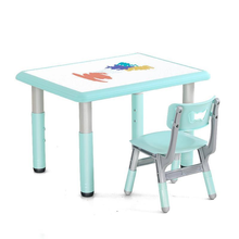 Kindergarten Desk And Chair Set Can Lift Children's Desk Household Simple Baby Table Plastic Rectangle Toy Table