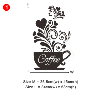 28 styles Coffee Wall Stickers for Kitchen Decorative Stickers Vinyl Wall Decals DIY Stickers Home Decor Dining Room Shop Bar 28