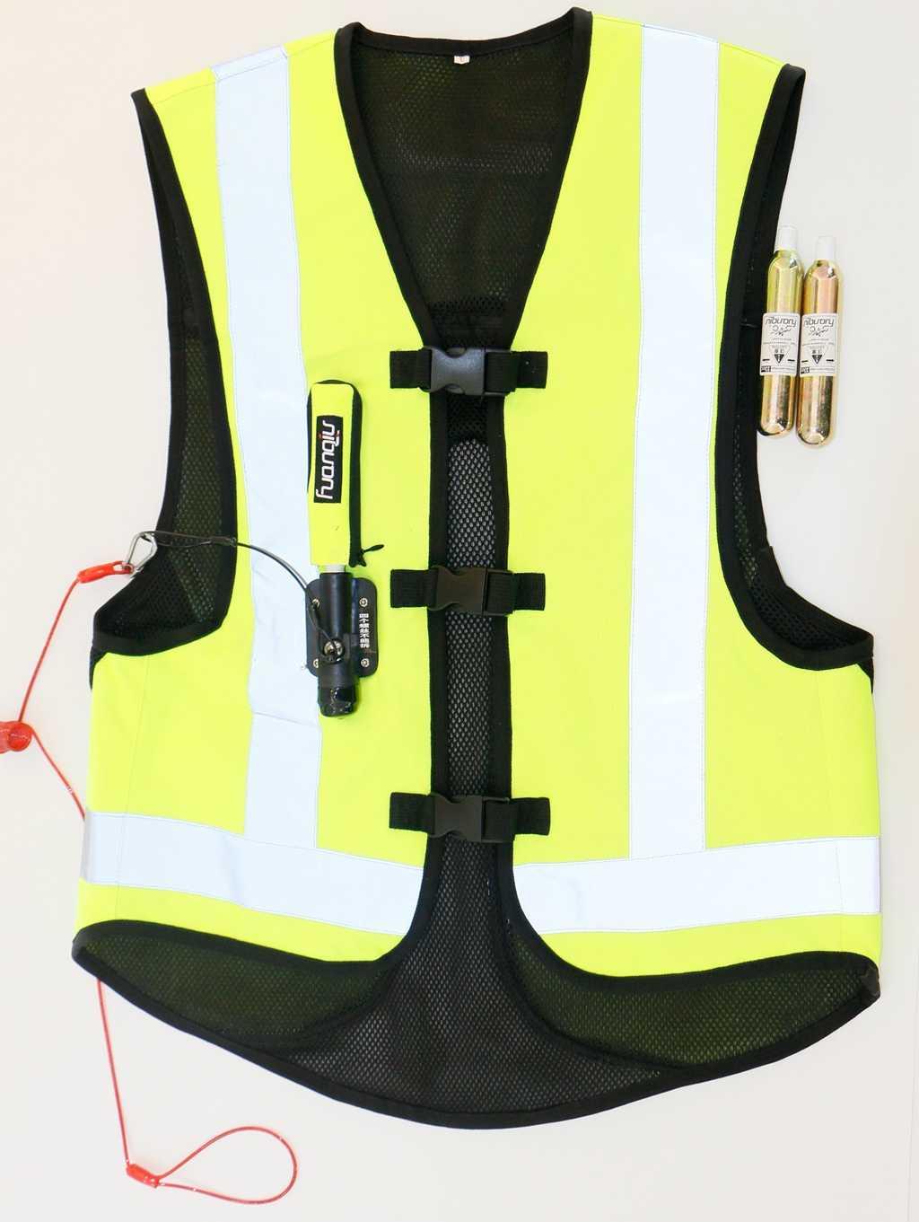 Tech-air course Airbag système colonne vertébrale motos moto équipement de course ballon ride gilet airbag sûr CO 2