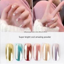 Esmalte de gel mágico brilhante, efeito de espelho super brilhante para unhas, pó de glitter, pigmento brilhante, 1g