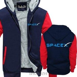 Image 3 - SPACEX พื้นที่ X SPACE X ELON MUSK พัดลมวิทยาศาสตร์โลโก้ hoodie FALCON Men hoodies หนาเสื้ออบอุ่น sbz4464