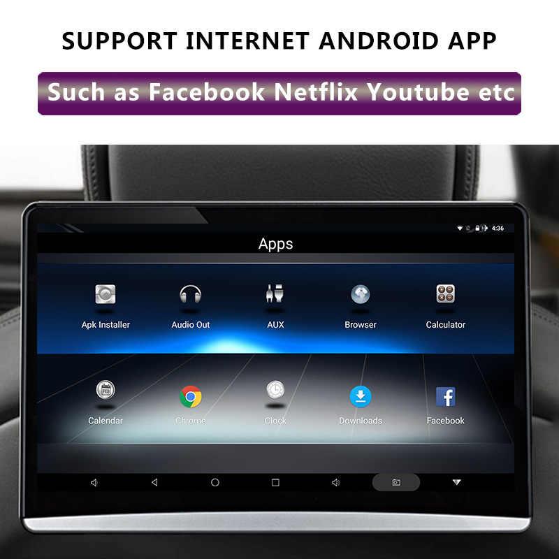 12.5 inç Android 9.0 2GB + 16GB araba baş dayama monitörü aynı ekran 4K 1080P MP5 WIFI/ bluetooth/USB/SD/HDMI/FM/ayna bağlantı/Miracast