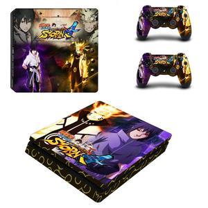 Image 2 - Naruto do Boruto pełna pokrywa płyty czołowe naklejka na kontroler do PS4 naklejka naklejka Vinyl na konsolę Playstation 4 i kontroler naklejka PS4 Slim